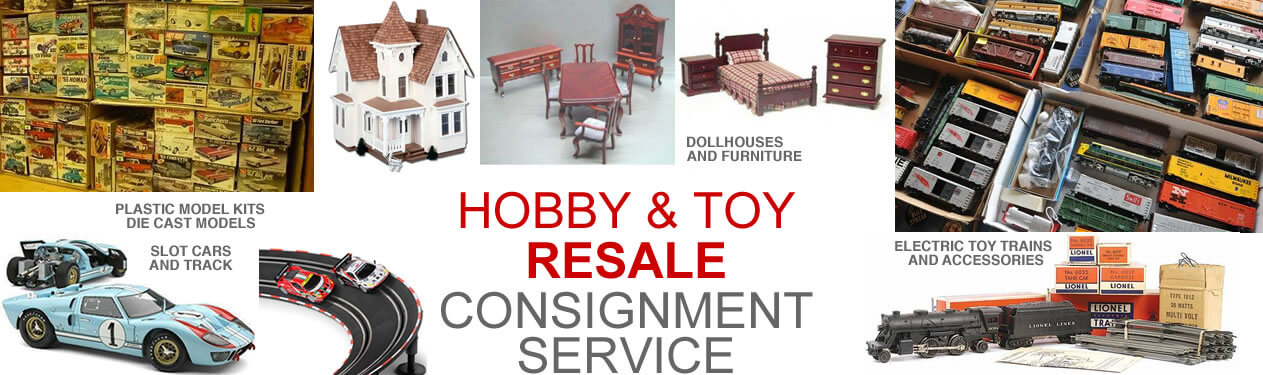 RESALE SHOP: Here's where you will find all the Bargains, Steals and Deals! Everything from Die Cast Cars, Toy Trains and Dollhouse Miniature Collections to Porcelain Christmas Villages, Electronics, Retro and Antique Collections. Our Resale Shop sells some New / Never Used, Used, Like-New, Bruised & Reduced, Returns, Private Collections, Antiques, Collectibles, Consignment Items, Bundles, Weird Stuff, Parts and Odds & Ends. Please Note: Because most items are on consignment, All items purchased from our Resale Consignment Shop listings are ALL sold As-Is, No Returns, No Refunds