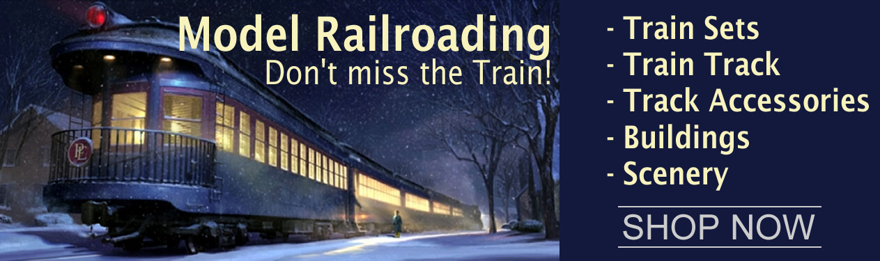 "Electric Toy Trains - Electric Train around the Christmas Tree"", We carry the largest selection of Scale Model Railroading supplies, Trains and Scale Model Railroad Miniatures and Railroad Diorama Accessories in N Scale, HO Scale, O Scale and G Scale."